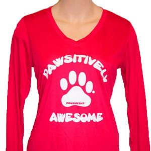 Ladies Long Sleeve T-shirt Pawsitively Awesome