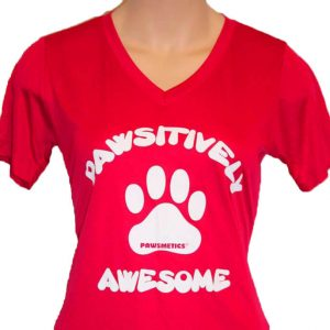 Raspberry T-shirt Pawsitively Awesome